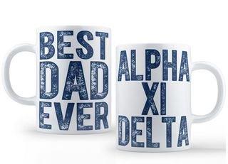 Alpha Xi Delta Best Dad Ever Coffee Mug