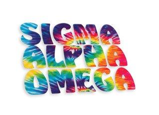 Sigma Alpha Omega Tie-Dye Stack Sticker