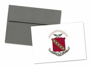 Sigma Kappa Color Crest - Shield Notecards(6)