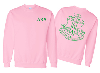 AKA World Famous Crest Crewneck Sweatshirt- $25! - MADE FAST!