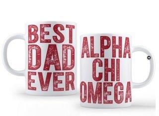 Alpha Chi Omega Best Dad Ever Coffee Mug