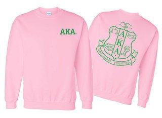 Alpha Kappa Alpha World Famous Crest - Shield Printed Crewneck Sweatshirt- $25!