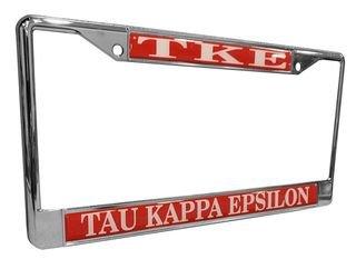 Tau Kappa Epsilon Metal License Plate Frame