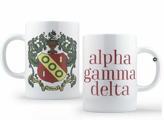 Alpha Gamma Delta Crest - Shield Coffee Mug