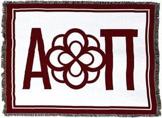 Alpha Omicron Pi Afghan Blanket Throw