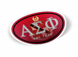 Alpha Sigma Phi Color Oval Decal