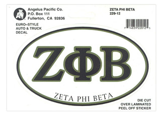 Zeta Phi Beta Euro Style Sticker