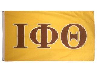 Iota Phi Theta Letter Flag - Gold
