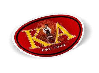Kappa Alpha Color Oval Decal