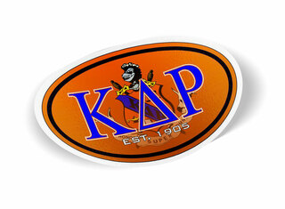 Kappa Delta Rho Color Oval Decal