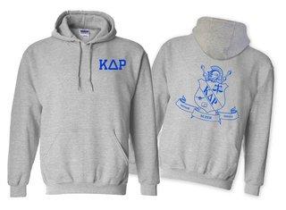 Kappa Delta Rho World Famous Crest - Shield Printed Hooded Sweatshirt- $35!