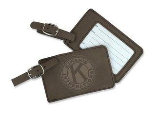 Kiwanis Leatherette Luggage Tag