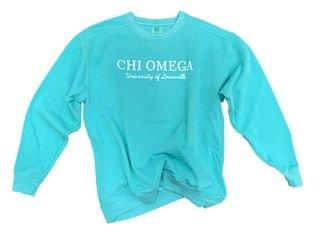 Sorority Custom Comfort Colors Greek Crewneck Sweatshirt