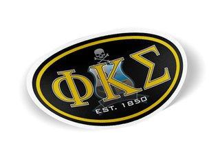 Phi Kappa Sigma Color Oval Decal