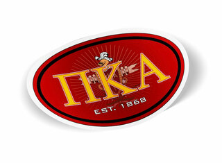 Pi Kappa Alpha Color Oval Decal
