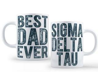 Sigma Delta Tau Best Dad Ever Coffee Mug