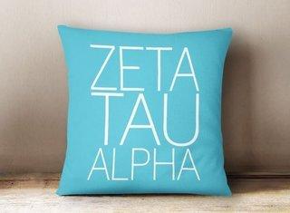 Zeta Tau Alpha Simple Pillow
