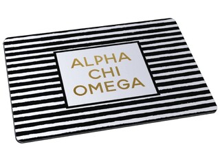 Alpha Chi Omega Striped Mousepad