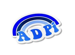 Alpha Delta Pi Rainbow Decals