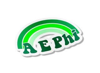 Alpha Epsilon Phi Rainbow Decals