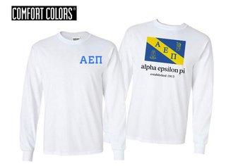 Alpha Epsilon Pi Flag Long Sleeve T-shirt - Comfort Colors