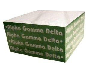 Alpha Gamma Delta Memo Paper Cube