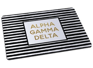 Alpha Gamma Delta Striped Mousepad