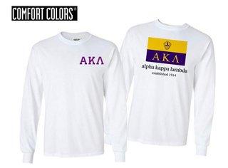 Alpha Kappa Lambda Flag Long Sleeve T-shirt - Comfort Colors