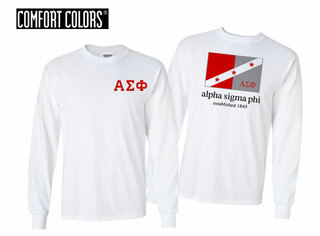 Alpha Sigma Phi Flag Long Sleeve T-shirt - Comfort Colors
