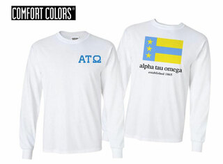 Alpha Tau Omega Flag Long Sleeve T-shirt - Comfort Colors