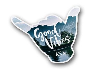 Alpha Xi Delta Good Vibes Sticker Decal