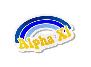 Alpha Xi Delta Rainbow Decals
