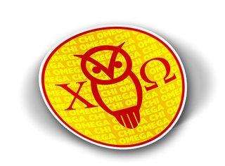 Chi Omega Mascot Round Decals