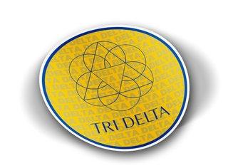 Delta Delta Delta Mascot Round Decals