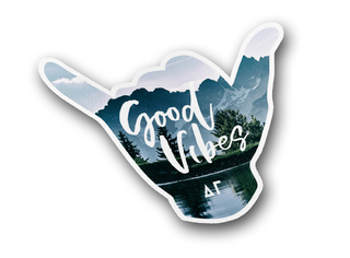 Delta Gamma Good Vibes Sticker Decal