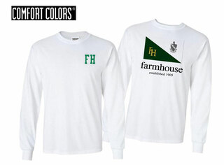FarmHouse Fraternity Flag Long Sleeve T-shirt - Comfort Colors