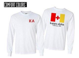 Kappa Alpha Flag Long Sleeve T-shirt - Comfort Colors