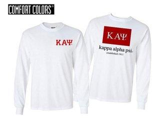 Kappa Alpha Psi Flag Long Sleeve T-shirt - Comfort Colors