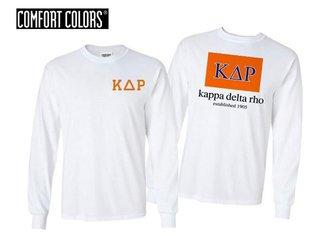 Kappa Delta Rho Flag Long Sleeve T-shirt - Comfort Colors