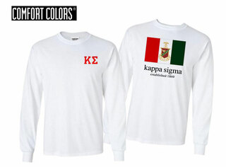 Kappa Sigma Flag Long Sleeve T-shirt - Comfort Colors