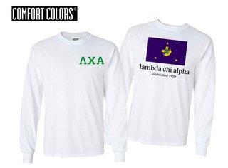 Lambda Chi Alpha Flag Long Sleeve T-shirt - Comfort Colors