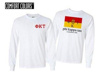 Phi Kappa Tau Flag Long Sleeve T-shirt - Comfort Colors