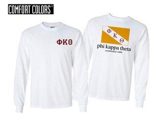 Phi Kappa Theta Flag Long Sleeve T-shirt - Comfort Colors