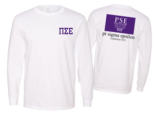 Pi Sigma Epsilon Flag Long Sleeve T-shirt - Comfort Colors