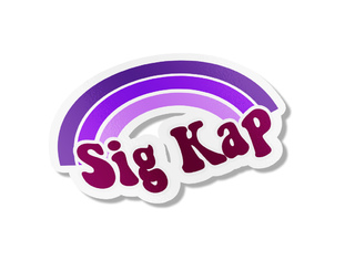 Sigma Kappa Rainbow Decals