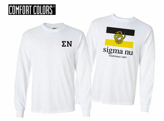 Sigma Nu Flag Long Sleeve T-shirt - Comfort Colors