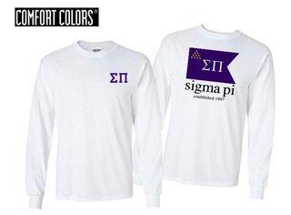 Sigma Pi Flag Long Sleeve T-shirt - Comfort Colors