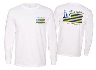 Tau Beta Sigma Stripes Long Sleeve T-shirt