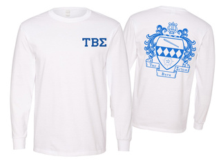 Tau Beta Sigma World Famous Crest - Shield Long Sleeve T-Shirt- $19.95!