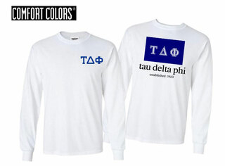 Tau Delta Phi Flag Long Sleeve T-shirt - Comfort Colors